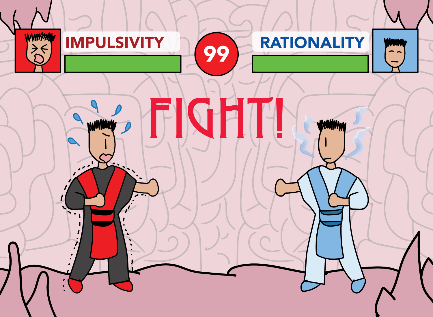 impulsivity vs rationality drawing